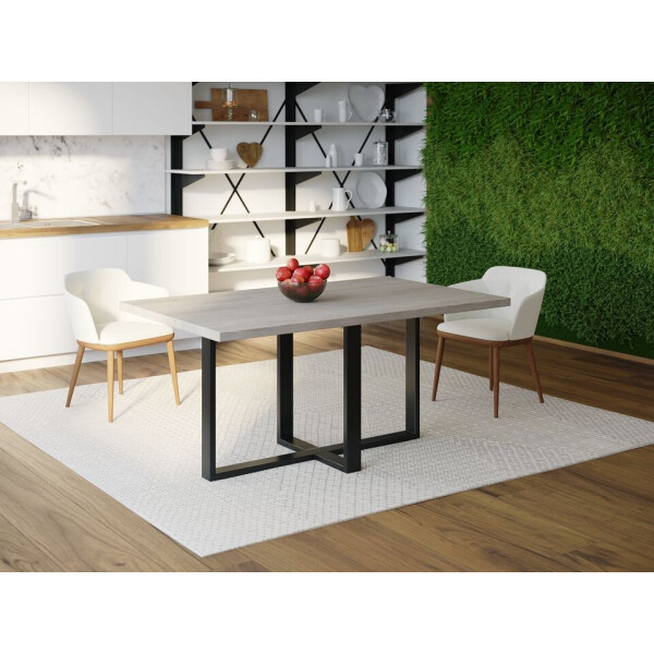 Купить Обеденные столы, Обеденный стол Skandi Wood SW099 Роли 120 х 80 х 75 см МДФ+Шпон Дуб Серый (SW09912875GrOMDF)