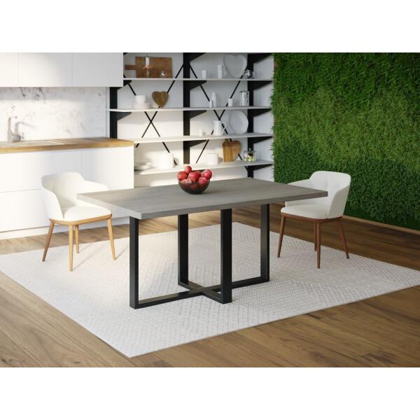 Купить Обеденные столы, Обеденный стол Skandi Wood SW099 Роли 120 х 80 х 75 см МДФ+Шпон Дуб Темно-Cерый (SW09912875DaOMDF)