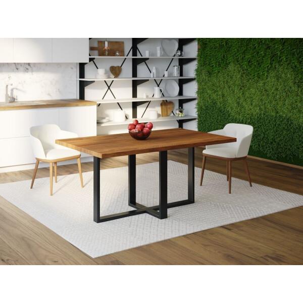 Купить Обеденные столы, Обеденный стол Skandi Wood SW099 Роли 120 х 80 х 75 см МДФ+Шпон Дуб Коричневый (SW09912875BrOMDF)