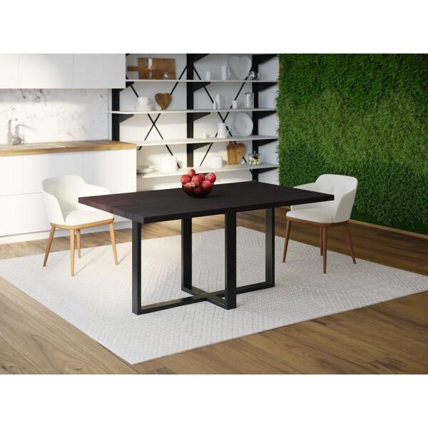 Купить Обеденные столы, Обеденный стол Skandi Wood SW099 Роли 120 х 80 х 75 см МДФ+Шпон Дуб Венге (SW09912875weOMDF)