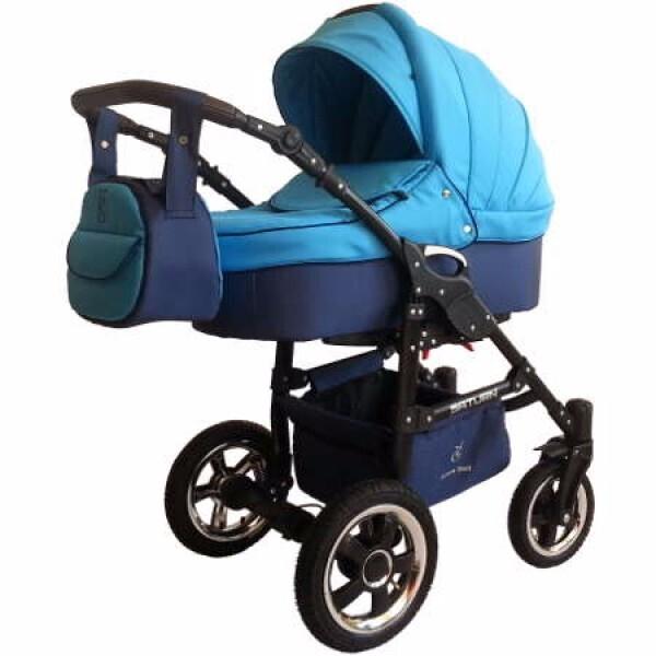 Купить Коляски, Детская универсальная коляска 2 в 1 Victoria Gold Saturn 3 NEW, синяя (124109-3)