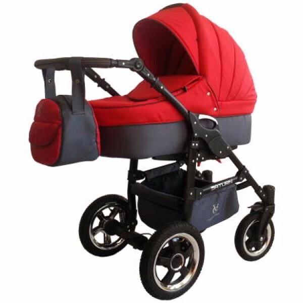 Купить Коляски, Детская универсальная коляска 2 в 1 Victoria Gold Saturn 3 NEW, красная (124109)