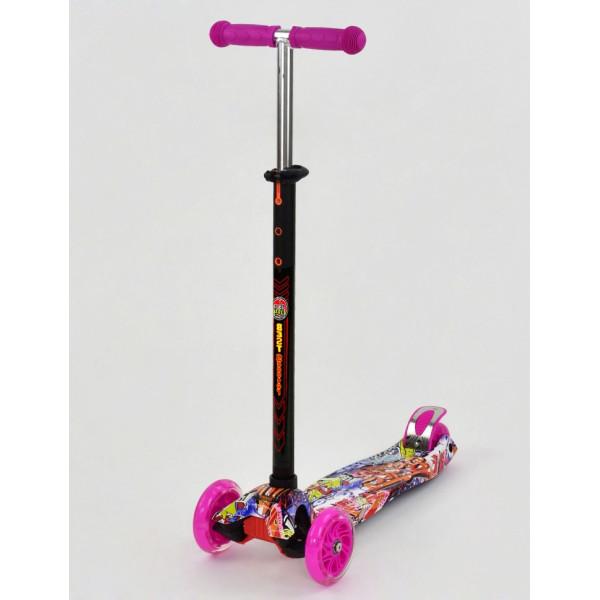 Купить Самокаты, Самокат Scooter Maxi S779 Розовый Графити