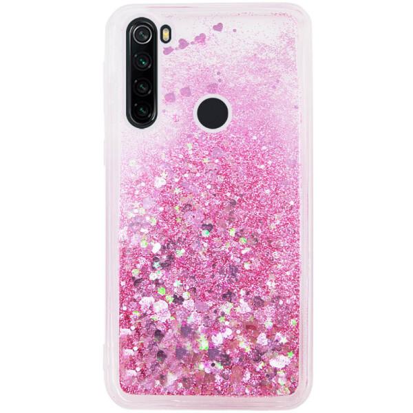 Купить Чехлы для телефонов, TPU чехол Liquid hearts для Samsung Galaxy A21 (Розовый) (906125)