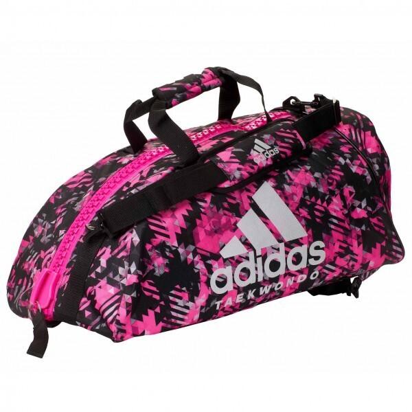 Купить Сумки дорожные, Сумка-рюкзак Adidas 2in1 Bag Taekwondo Nylon, adiACC052 Розовая (M)