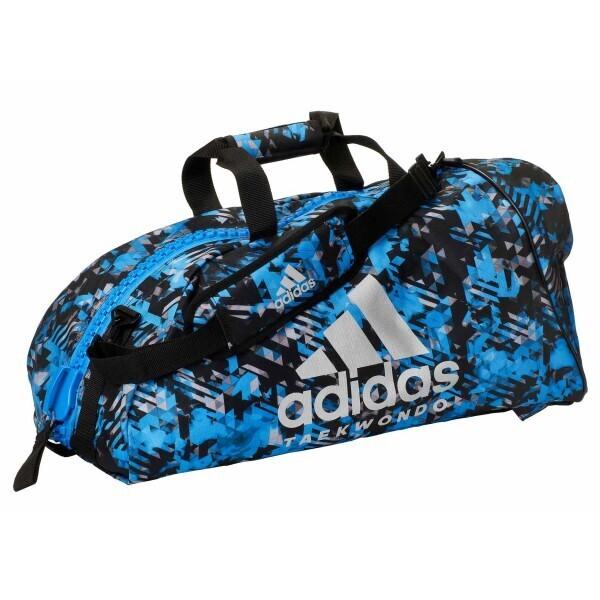 Купить Сумки дорожные, Сумка-рюкзак Adidas 2in1 Bag Taekwondo Nylon, adiACC052 Синяя (M)