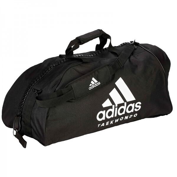 Купить Сумки дорожные, Сумка-рюкзак Adidas 2in1 Bag Taekwondo Nylon, adiACC052 Черная (M)