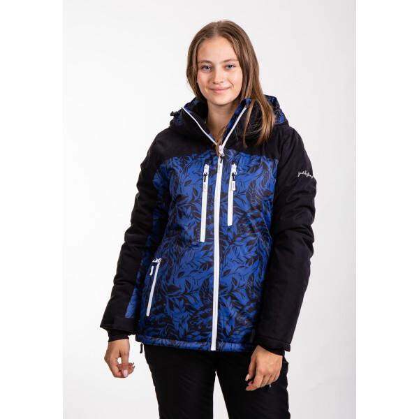 Купить Горнолыжные куртки, Куртка лыжная женская Just Play Leaf черный / синий (B2369-blue)