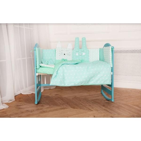 Купить Комплекты постельного белья, детский Добрый Сон Кото-Зайка (7 элементов) бирюза