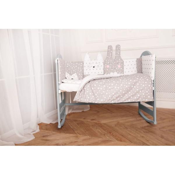 Купить Комплекты постельного белья, детский Добрый Сон Кото-Зайка (7 элементов) серый