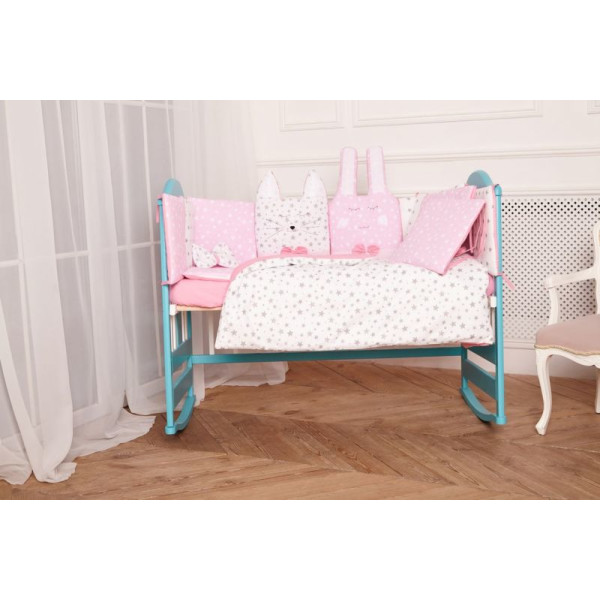 Купить Комплекты постельного белья, детский Добрый Сон Кото-Зайка (7 элементов) розовый