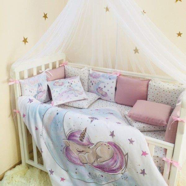 Купить Комплекты постельного белья, детский Маленькая Соня Magic (7 элементов) единорог