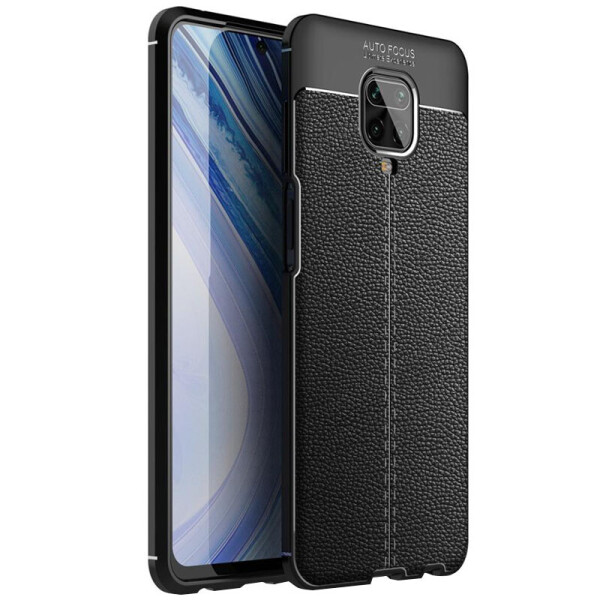 Купить Чехлы для телефонов, TPU чехол фактурный (с имитацией кожи) для Xiaomi Redmi Note 9s / Note 9 Pro / Note 9 Pro Max Черный, Epik