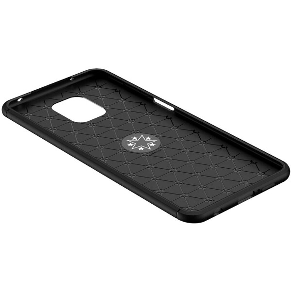 Купить Чехлы для телефонов, TPU чехол Deen ColorRing под магнитный держатель (opp) для Xiaomi Redmi Note 9s/Note 9 Pro/9 Pro Max Черный / Синий, Epik