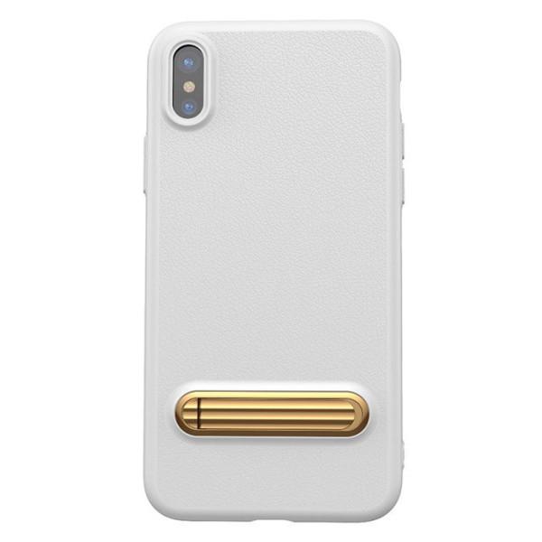 Купить Чехлы для телефонов, с подставкой Baseus Happy Watching Supporting белый для iPhone X/XS