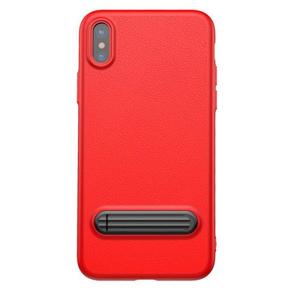 Купить Чехлы для телефонов, с подставкой Baseus Happy Watching Supporting красный для iPhone X/XS