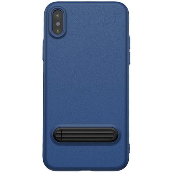 Купить Чехлы для телефонов, с подставкой Baseus Happy Watching Supporting синий для iPhone X/XS