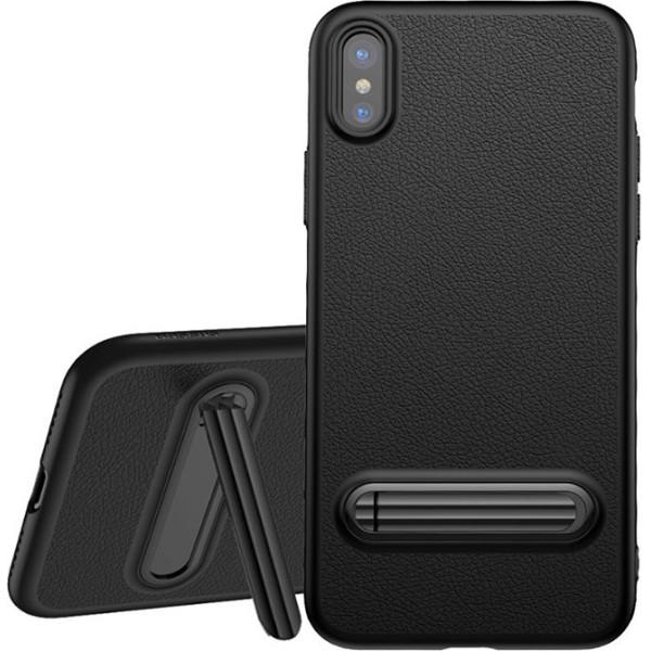 Купить Чехлы для телефонов, с подставкой Baseus Happy Watching Supporting черный для iPhone X/XS