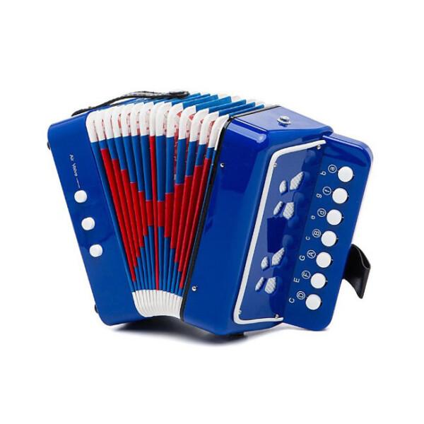 Купить Детские музыкальные инструменты, Гармошка 6429 (Синий), Shantou Huada
