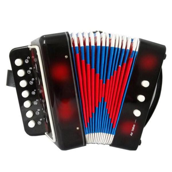 Купить Детские музыкальные инструменты, Гармошка 6429 (Черный), Shantou Huada