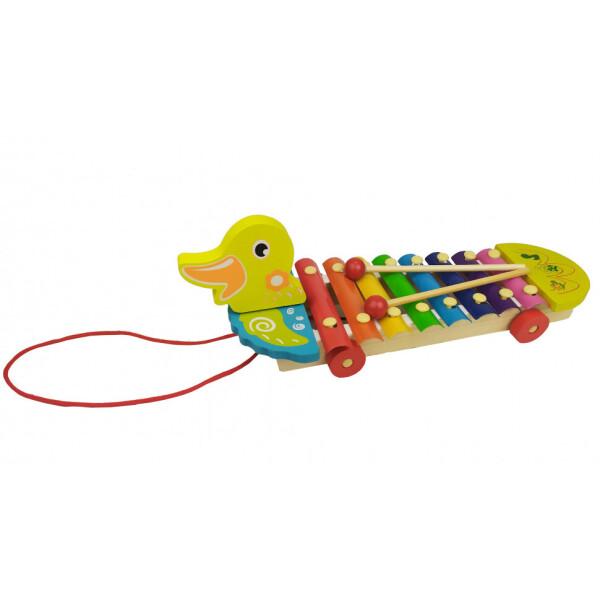 Купить Детские музыкальные инструменты, Деревянная игра 3057 Ксилофон (Утка), Metr+