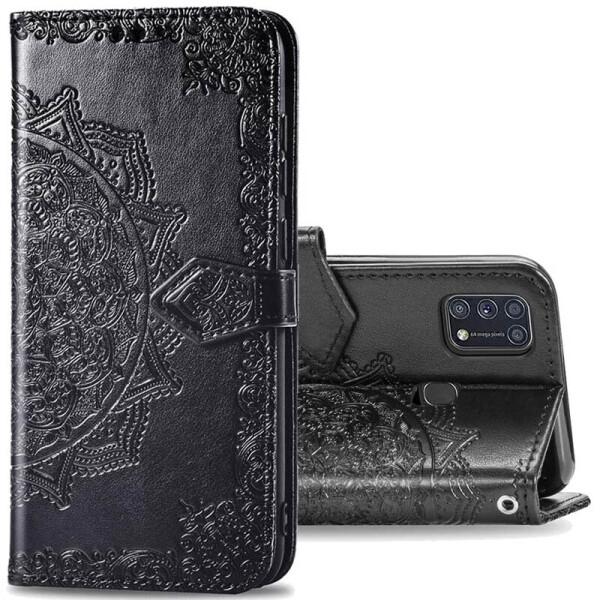Купить Чехлы для телефонов, Кожаный чехол (книжка) Art Case с визитницей для Samsung Galaxy M31 Черный, Epik