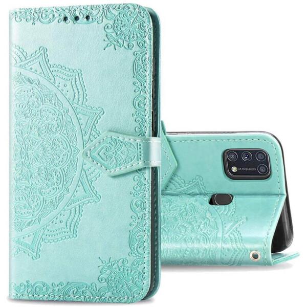 Купить Чехлы для телефонов, Кожаный чехол (книжка) Art Case с визитницей для Samsung Galaxy M31 Бирюзовый, Epik