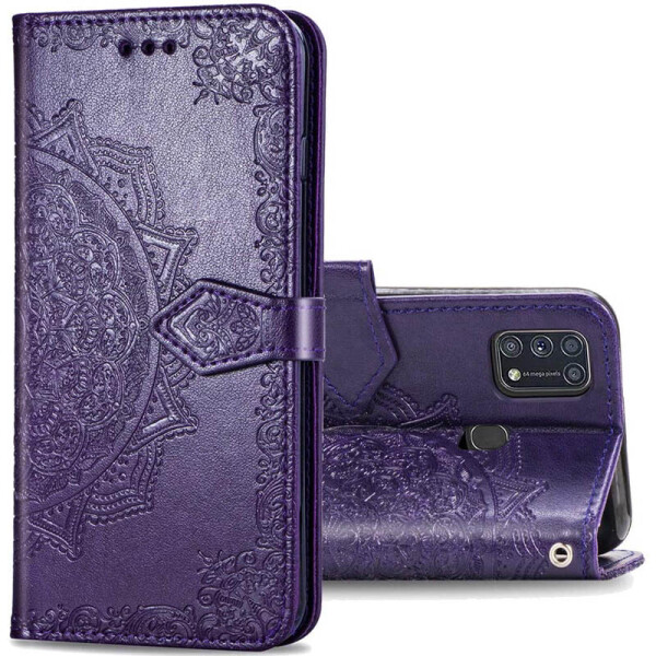 Купить Чехлы для телефонов, Кожаный чехол (книжка) Art Case с визитницей для Samsung Galaxy M31 Фиолетовый, Epik