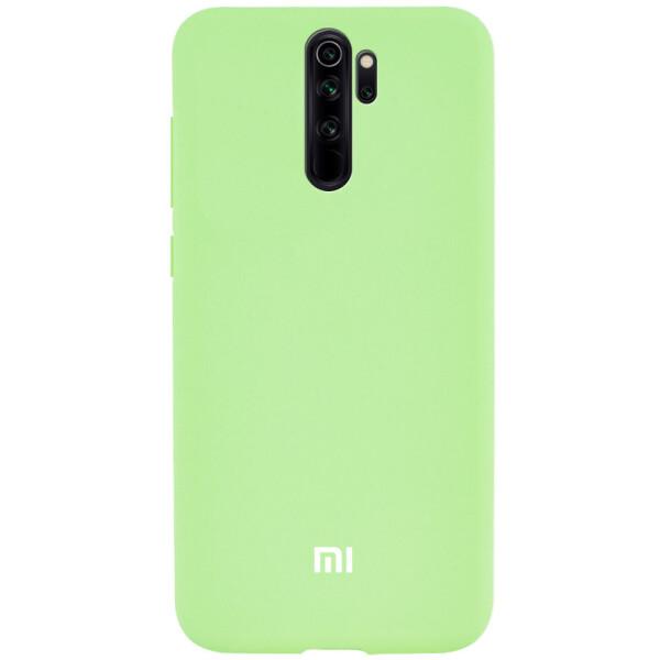 Купить Чехлы для телефонов, Чехол Silicone Cover Full Protective (A) для Xiaomi Redmi Note 8 Pro Зеленый / Pistachio, Epik