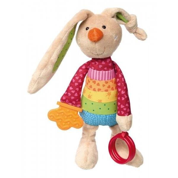 Купить Мягкие игрушки, Мягкая игрушка Sigikid Кролик с погремушкой 26 см 41419SK