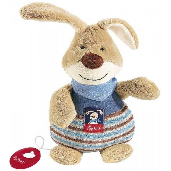 Купить Мягкие игрушки, Мягкая музыкальная игрушка Sigikid Кролик 25см 47894SK