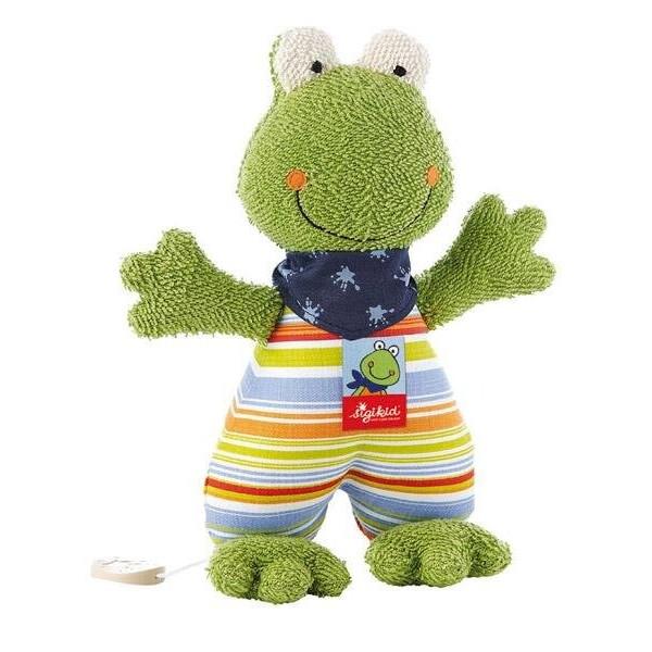 Купить Мягкие игрушки, Мягкая музыкальная игрушка Sigikid Лягушка 23см 48895SK