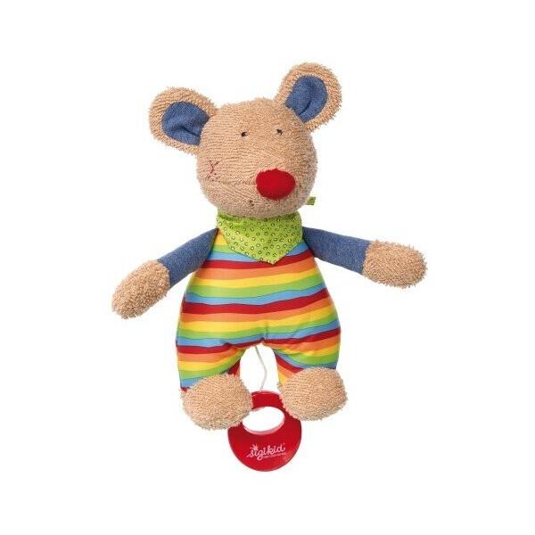 Купить Мягкие игрушки, Мягкая музыкальная игрушка Sigikid Мишь 23 см 41535SK