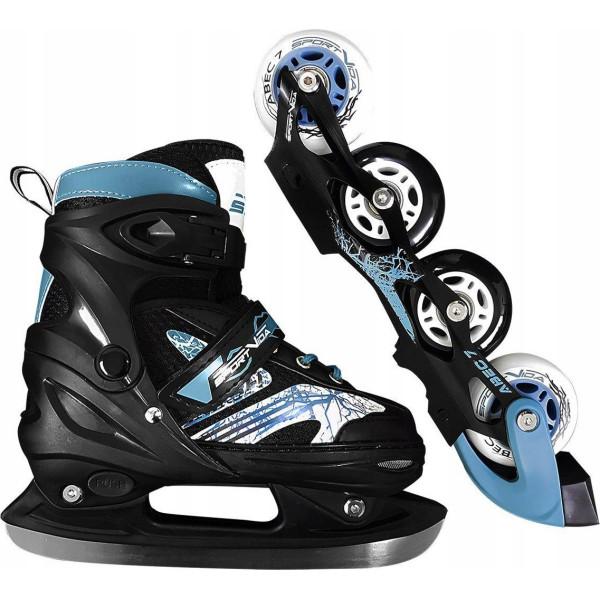 Купить Роликовые коньки, SportVida 4в1 31-34 Black/Blue (SV-LG0019)