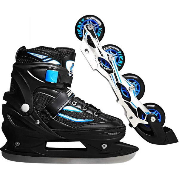 Купить Роликовые коньки, SportVida 4в1 31-34 Black/Blue (SV-LG0028)
