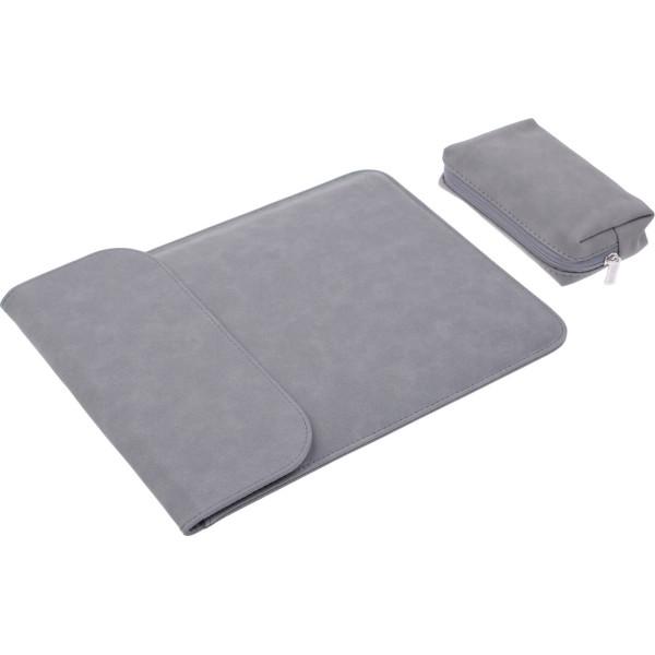 Купить Сумки для ноутбуков, Чехол-конверт из натуральной замши Taikesen для MacBook Air 11.6 A1370/A1465 Dark Grey (комплект 2в1) (UP9101)