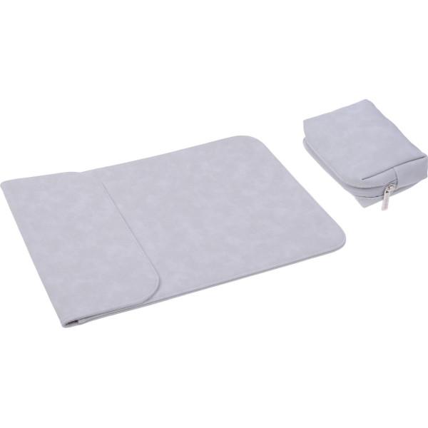 Купить Сумки для ноутбуков, Чехол-конверт из натуральной замши Taikesen для MacBook Air 11.6 A1370/A1465 Light Grey (комплект 2в1) (UP9106)