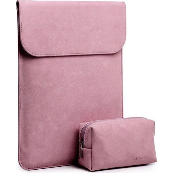 Купить Сумки для ноутбуков, Чехол-конверт из натуральной замши Taikesen для MacBook Air 11.6 A1370/A1465 Pink (комплект 2в1) (UP9136)