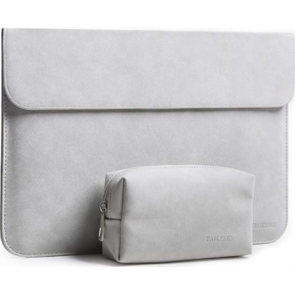 Купить Сумки для ноутбуков, Чехол-конверт из натуральной замши Taikesen для MacBook Air 11.6 A1370/A1465 Light Grey (комплект 2в1) (UP9151)