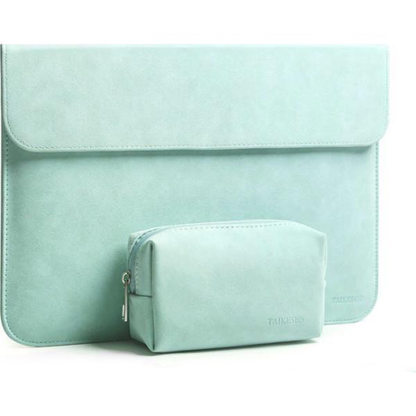 Купить Сумки для ноутбуков, Чехол-конверт из натуральной замши Taikesen для MacBook Pro 15.4 A1398 Mint (комплект 2в1) (UP9164)