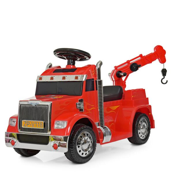 Купить Детские электро- и веломобили, Электромобиль Машина ZPV118BR-3 красный BAMBI