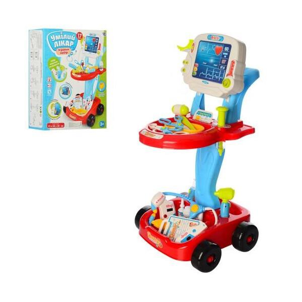 Купить Игровые наборы, Игровой набор Limo Toy Набор доктора Тележка со звуковыми эффектами Красно-синий (660-45-46)