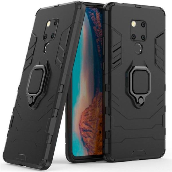 Купить Чехлы для телефонов, ударопрочный Transformer Ring под магнитный держатель для Huawei Mate 20 X (черный / Soul Black) (686581), Epik