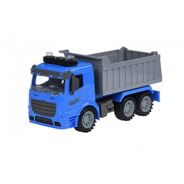 Купить Машинки, техника игровая, Машинка инерционная Same Toy Truck Самосвал синий со светом и звуком (98-611AUt-2)