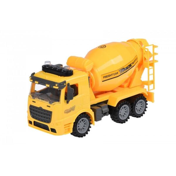 Купить Машинки, техника игровая, Машинка инерционная Same Toy Truck Бетоносмеситель желтая со светом и звуком (98-612AUt-2)