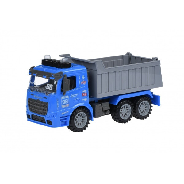 Купить Машинки, техника игровая, Машинка инерционная Same Toy Truck Самосвал синий со светом и звуком (98-614AUt-2)