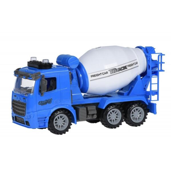 Купить Машинки, техника игровая, Машинка инерционная Same Toy Truck Бетономешалка синяя со светом и звуком (98-612AUt-1)