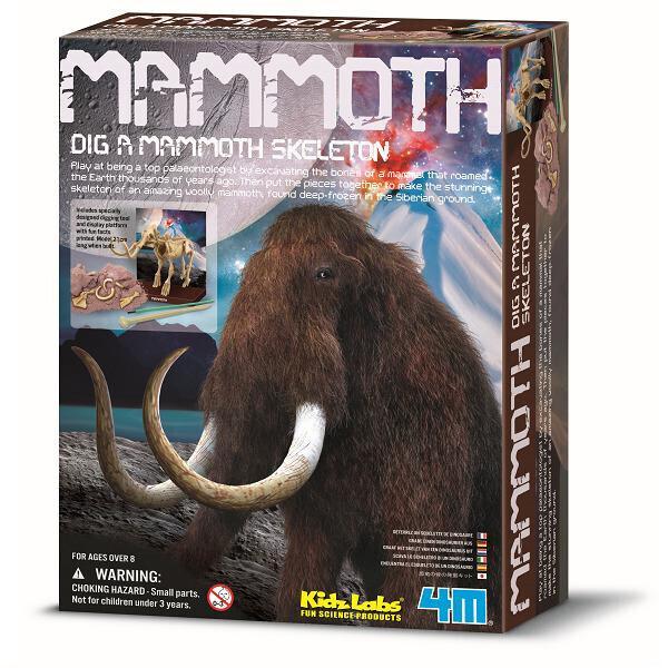Купить Настольные игры, Набор для творчества 4M Скелет мамонта (00-03236)