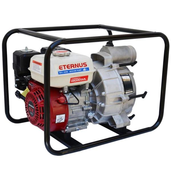 Купить Мотопомпы, Мотопомпа бензиновая Eternus WH30S для грязной воды (5.5 л.с., 750 л/мин), NN