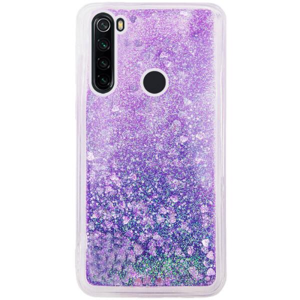 Купить Чехлы для телефонов, TPU чехол Liquid hearts для Samsung Galaxy A21 Фиолетовый (133774), Epik